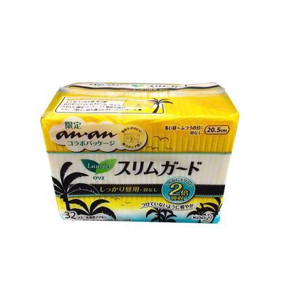 【一般贸易中文标】日本花王卫生巾乐而雅S系列日用20.5cm*32片