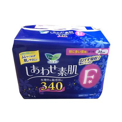 【一般贸易中文标】日本花王卫生巾乐而雅F系列夜用34cm*9片