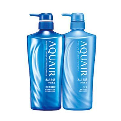 【一般贸易中文版】日本资生堂Shiseido2 水之密语净澄水活洗发露+护发素 套装 600ml(控油)