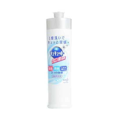 日本花王KAO果强效除菌蔬餐具洗涤剂中性柠檬味240ML