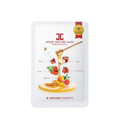 【香港直邮】韩国 JAYJUN 水光红果黑卢卡蜂蜜面膜25ml*5片/盒 改善暗沉