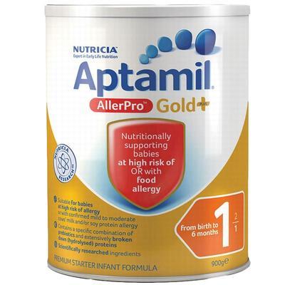 澳洲爱他美Aptamil 深度水解抗过敏奶粉 900g 1段 适合0-6个月