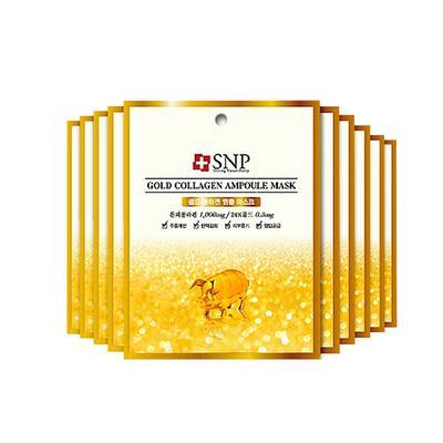 【一般贸易中文标】韩国斯内普SNP黄金胶原蛋白精华面膜25Ml*10片