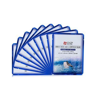 【一般贸易中文标】韩国斯内普SNP海洋燕窝补水安瓶精华面膜25Ml*10片(新老包装)