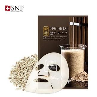 【一般贸易中文标】韩国原装进口 SNP美白活力发酵面膜25ml*10片