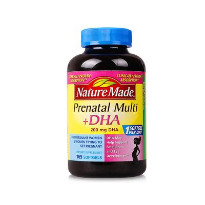 Nature Made孕妇多种维生素+DHA 黄金素165粒