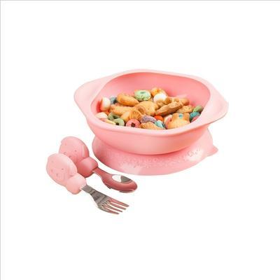 【一般贸易】加拿大马库斯MARCUS&MARCUS叉勺碗套装 粉色 (s)