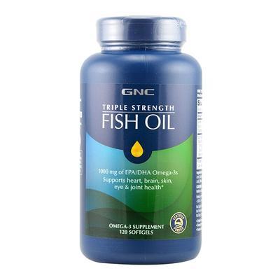 【香港直邮】美国GNC/健安喜 三倍浓缩鱼油高含量软胶囊 120粒
