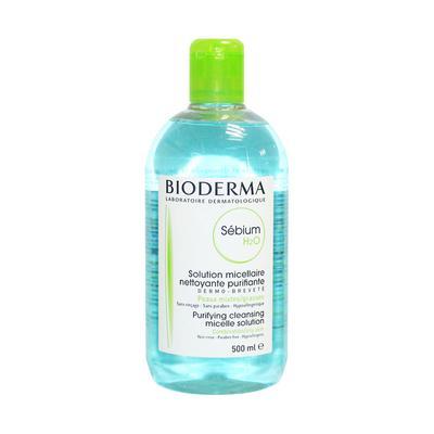 【香港直邮】法国贝德玛Bioderma蓝色控油保湿卸妆水净妍洁肤液500ml 版本随机
