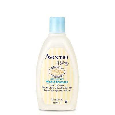 美国艾维诺Aveeno天然燕麦婴儿洗澡洗发液无泪配方236ml[有白色标签]