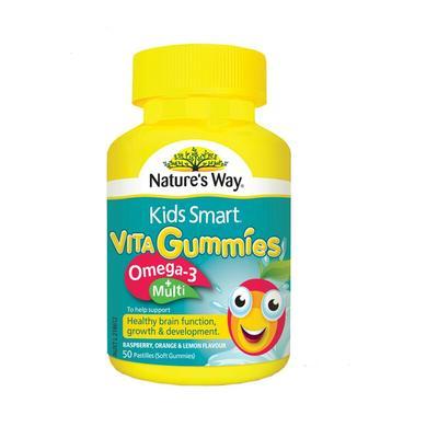 【香港直邮】澳洲 佳思敏 Nature's Way 儿童复合维生素+Omega3鱼油软糖50粒