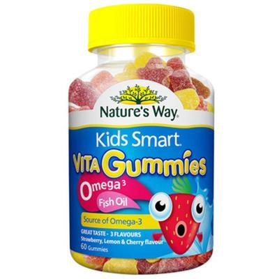 【澳洲直邮】澳大利亚佳思敏 Nature's Way 儿童鱼油软糖+omega3 60粒