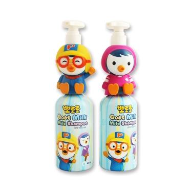【一般贸易中文标】韩国poror o啵乐乐山羊奶儿童卡通洗发水洗护小公仔400ML