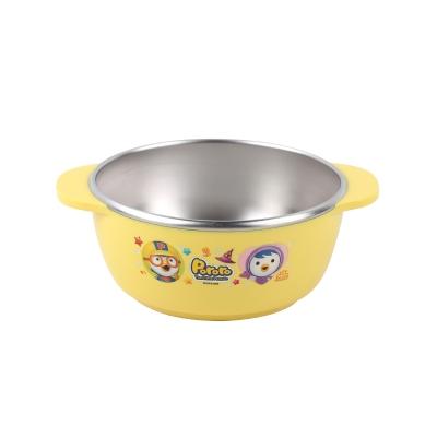韩国啵乐乐pororo儿童304不锈钢隔热饭碗290ml/无盖