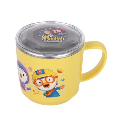 韩国啵乐乐pororo儿童不锈钢隔热小水杯225mL/带盖