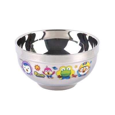韩国啵乐乐pororo304不锈钢真空隔热碗卡通印花/300ml