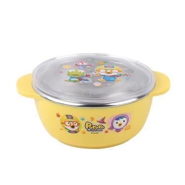 韩国啵乐乐pororo儿童304不锈钢隔热饭碗290ml/有盖