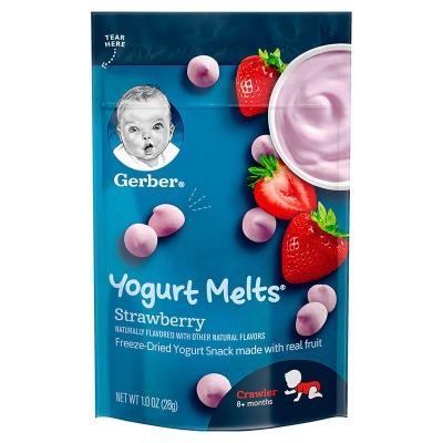 【香港直邮】美国嘉宝Gerber酸奶溶豆草莓味28g