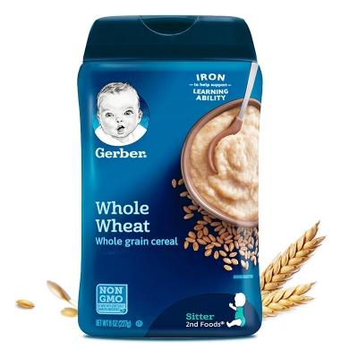 【香港直邮】美国嘉宝gerber米粉2段全麦 227G