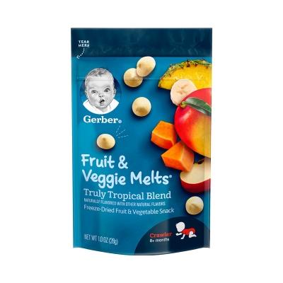 【香港直邮】美国嘉宝Gerber酸奶溶豆热带果蔬28g