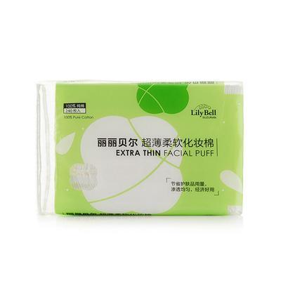 【一般贸易中文版】中国 丽丽贝尔 Lily Bell纯棉薄款省水化妆棉 240枚