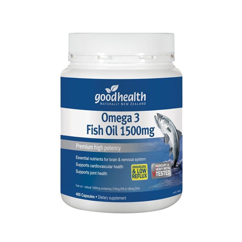 【新西兰直邮】Good Health 好健康深海鱼油 高含量 1500mg 400粒