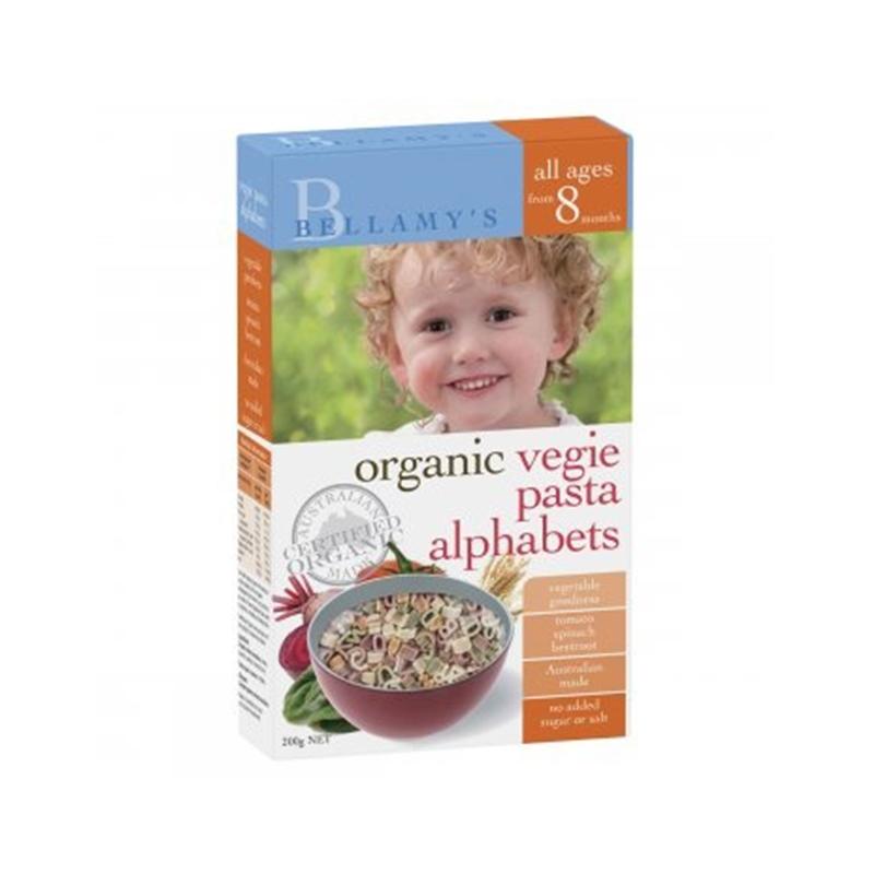 【新西兰直邮】Bellamy's贝拉米蔬菜字母面 200g(8个月以上)