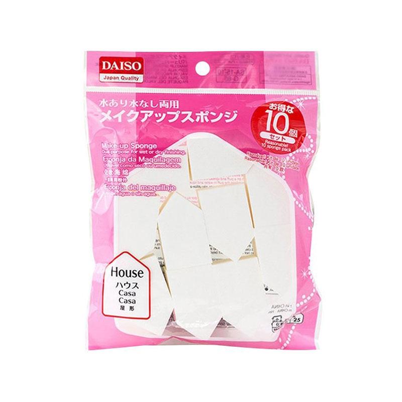 【一般贸易中文标】日本 DAISO大创五角海绵(10个装)