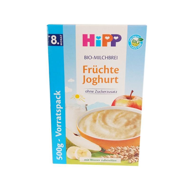 进口货源  德国Hipp 喜宝joghurt 有机水果酸奶益生菌米粉 8个月以上 500克