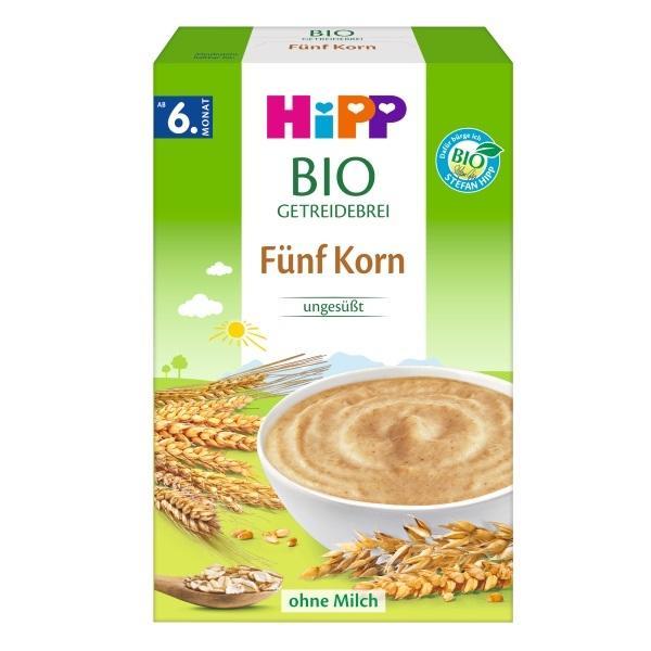 进口货源   Hipp 德国喜宝五种谷物婴幼儿米糊 200g (新包装)