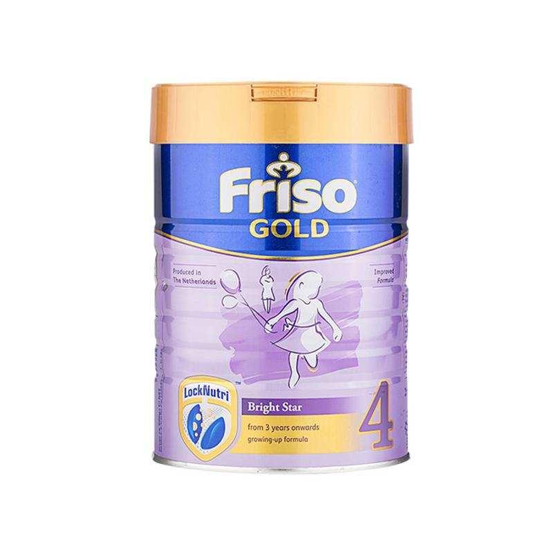 进口货源  荷兰Friso美素佳儿新加坡版成长配方奶粉4段(3岁以上)900g/罐