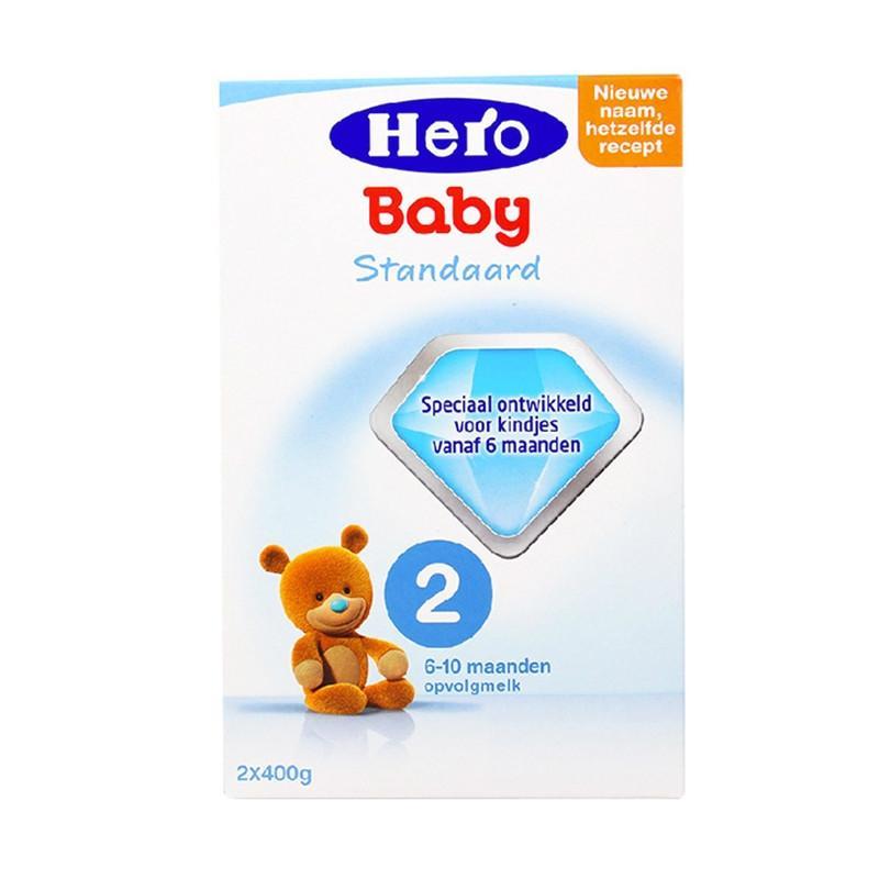 进口货源  荷兰美素Herobaby奶粉2段800g(新旧包装随机发送)