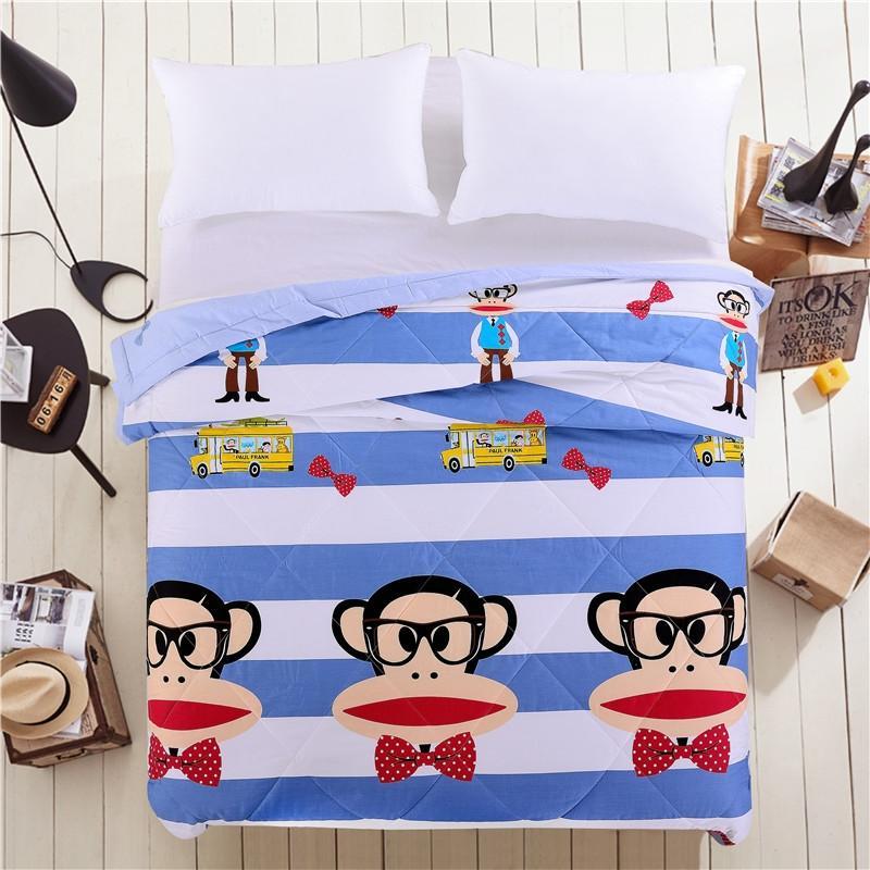 大嘴猴 正版全棉卡通高端夏被 绅士猴200cm*230cm,正品货源代发