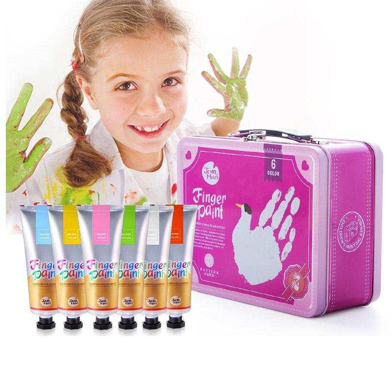 中国美乐JoanMiro 儿童手指画手提箱 粉色款  支持一件代发货