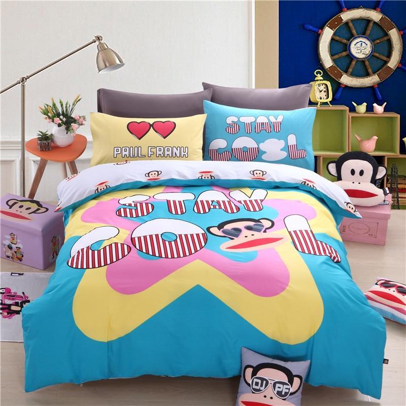 大嘴猴 正版全棉卡通高端床上用品四件套 酷爽款,跨境供应链