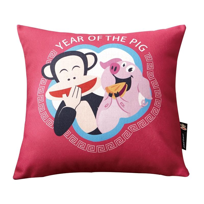 大嘴猴 正版全棉卡通高端抱枕生肖猪,支持一件代发