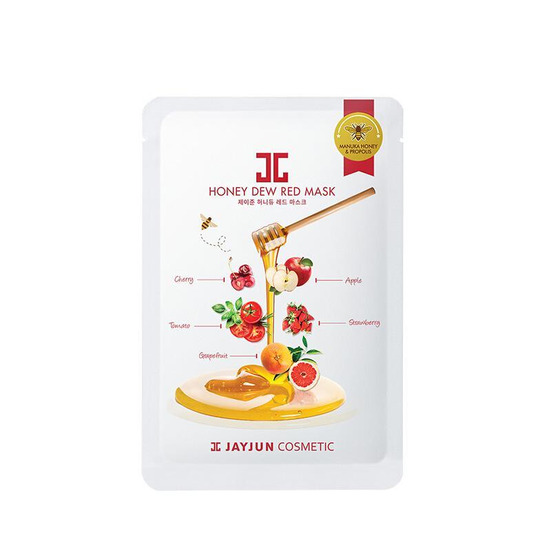 韩国 JAYJUN 水光红果黑卢卡蜂蜜面膜25ml*5片/盒 改善暗沉