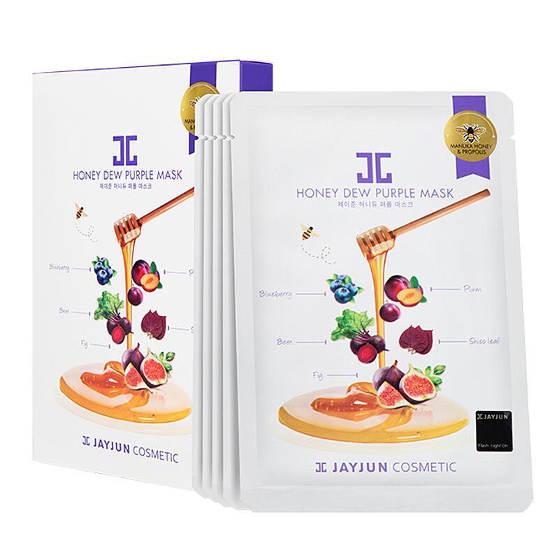 韩国 JAYJUN 水光紫莓蜂蜜面膜25ml*5片/盒 紧致抚纹