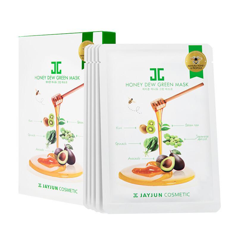 韩国 JAYJUN 水光绿蔬蜂蜜面膜25ml*5片/盒 补水舒缓