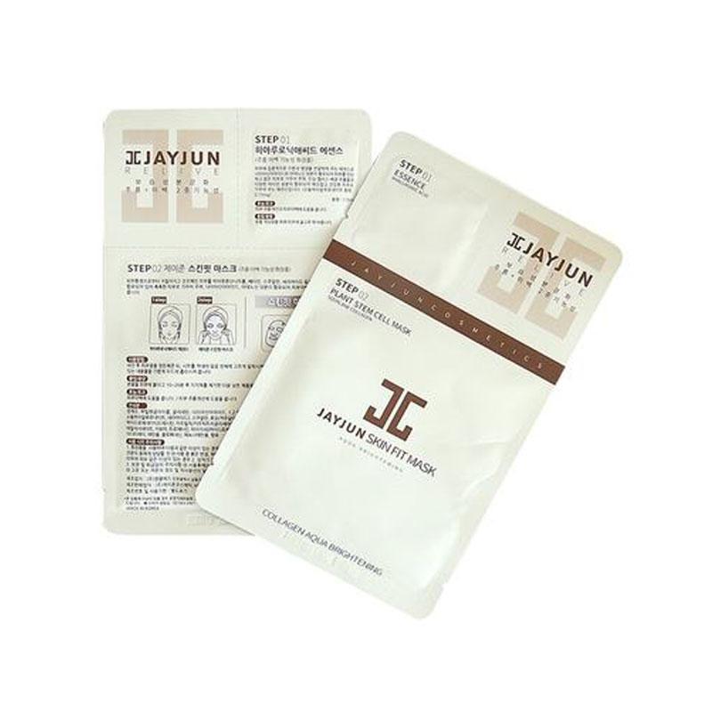 韩国水光JAYJUN植物干细胞保湿面膜白色10片/盒