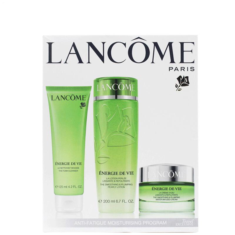 法国兰蔻Lancome草本活肤根源补养气色三件套装面霜+洗面奶+水