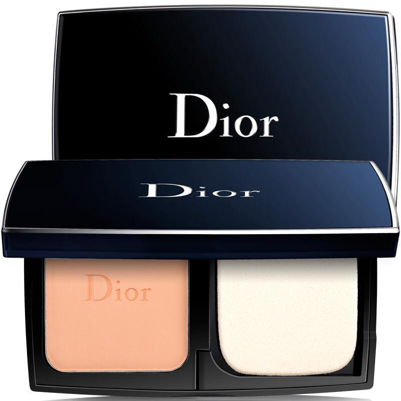 法国迪奥Dior 凝脂恒久钻肌保湿遮瑕粉饼10g 010#