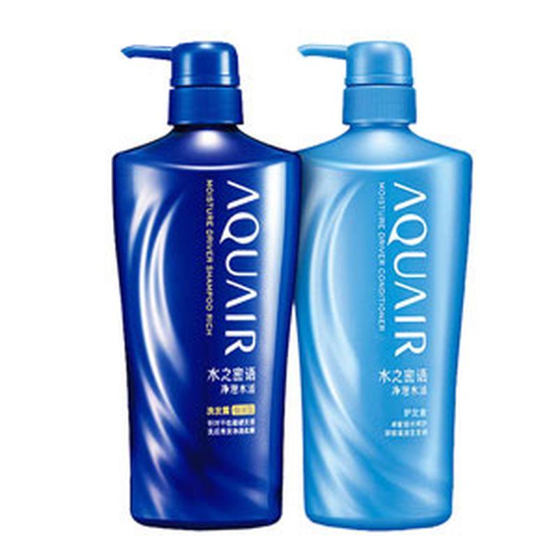 日本资生堂Shiseido 水之密语净澄水活洗发露(倍润型)600ml+净澄水活护发素600ml