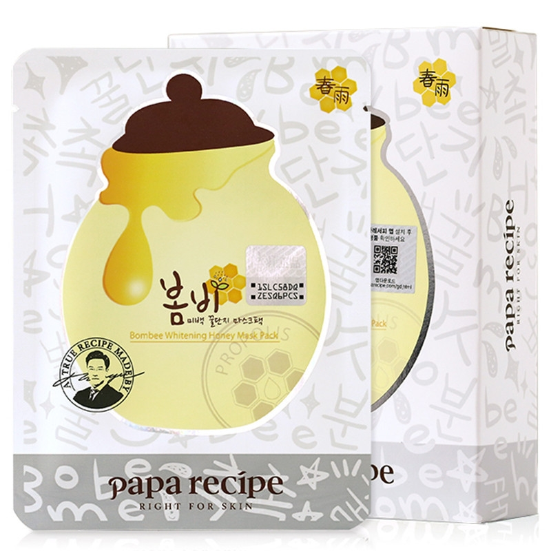 韩国Papa recipe白春雨美白补水面膜10片