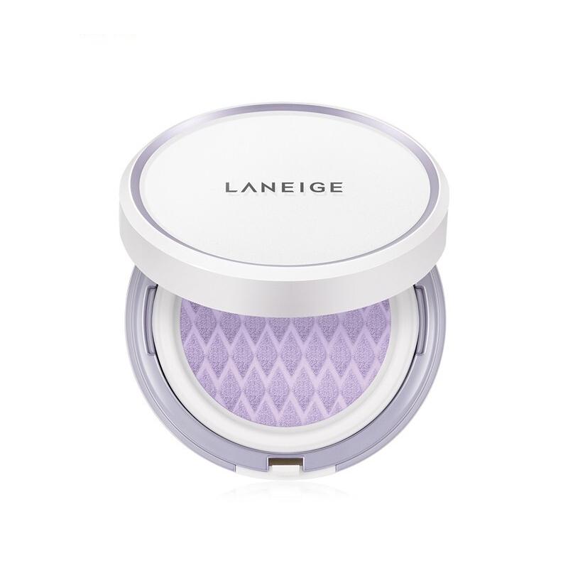 韩国LANEIGE/兰芝雪纱修颜气垫紫色40号 15g*2