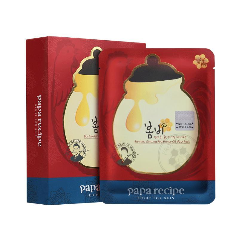 韩国papa recipe春雨红参面膜 10片/盒
