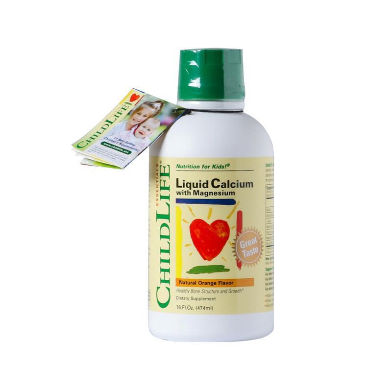美国童年时光Childlife 钙镁锌婴幼儿液体钙474ml/473ml