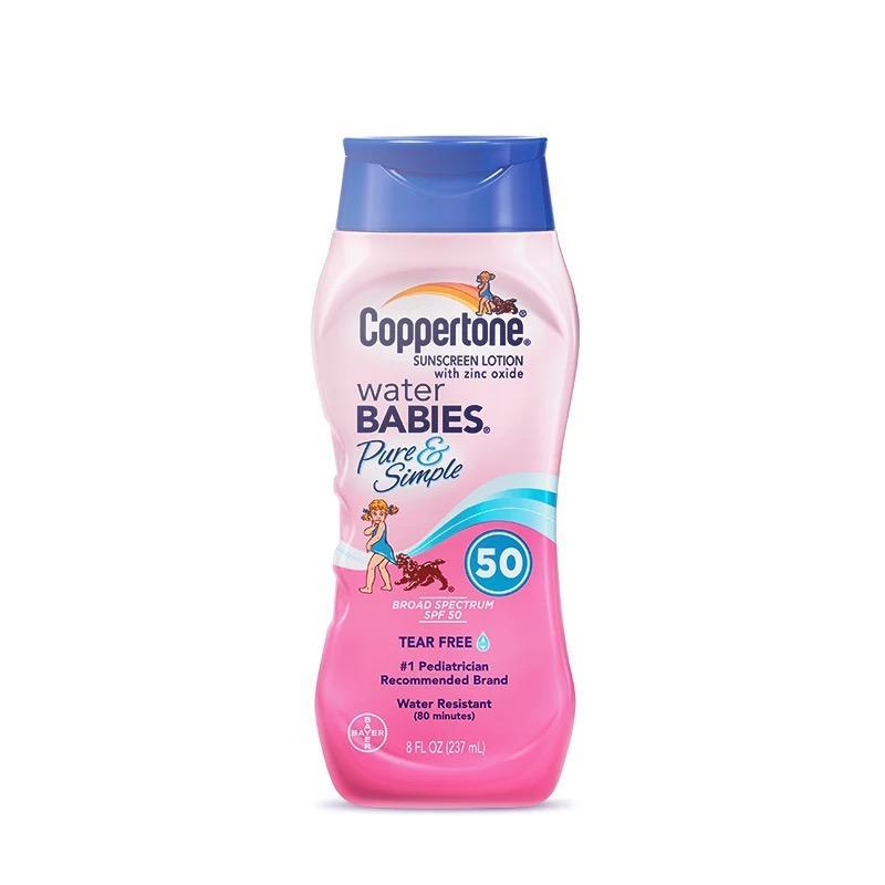 一般贸易货源【中文标】代购美国 确美同 Coppertone 水宝宝 纯净 防晒霜 SPF50 237ml