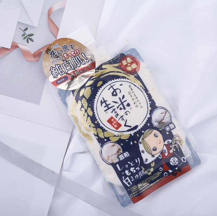 一般贸易货源【中文标】代购日本米屋麻优酱大米酒粕酒糟大米水洗涂式面膜 白肌补水提亮170g
