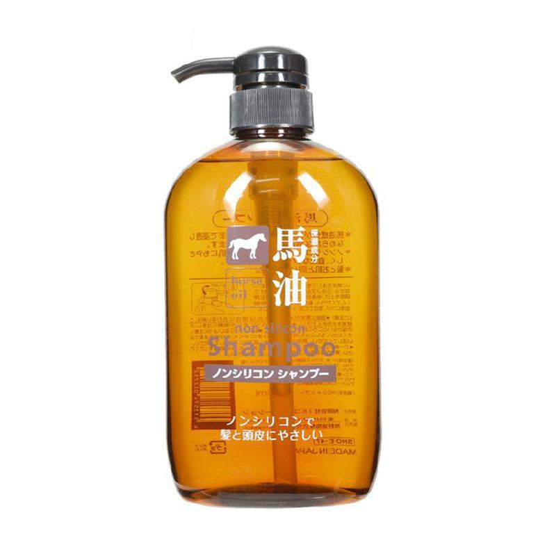 保税货源  代购日本熊野油脂无硅天然弱酸性马油洗发水600ml